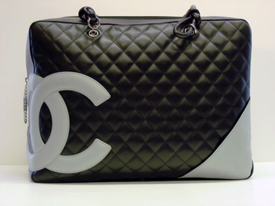 CHANEL CC Quilted Black Handbag 2
