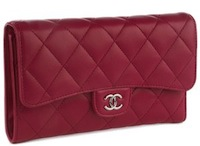 CHANEL CC Clutch Purse Red